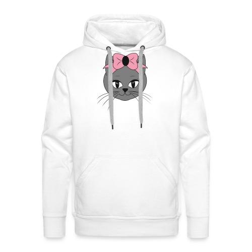 Meww Kitty Cat Hoodie - Premium hettegenser for menn