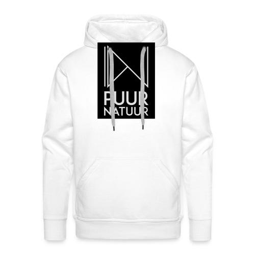 Logo puur natuur negatief - Mannen Premium hoodie