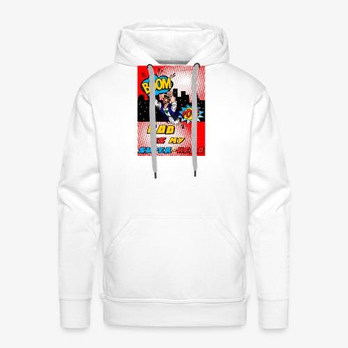 God Is my Super Hero - Sweat-shirt à capuche Premium pour hommes