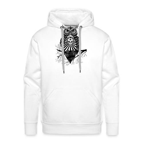 Hibou Psychédélique - Sweat-shirt à capuche Premium pour hommes