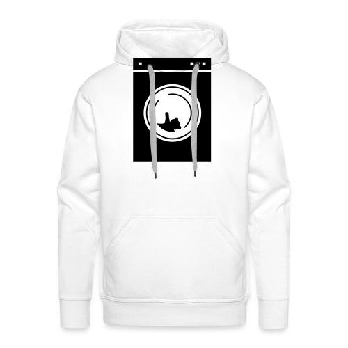 washing machine bear - Sweat-shirt à capuche Premium pour hommes