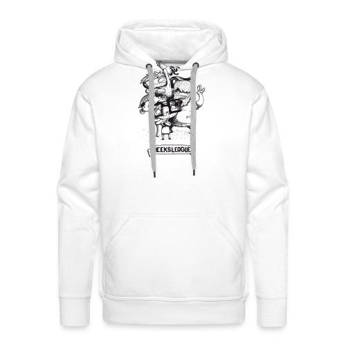 Illu Geeksleague - Sweat-shirt à capuche Premium pour hommes