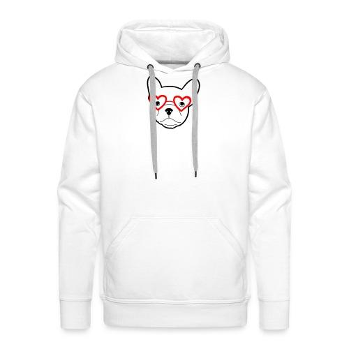 Frenchbulldogglasses - Männer Premium Hoodie