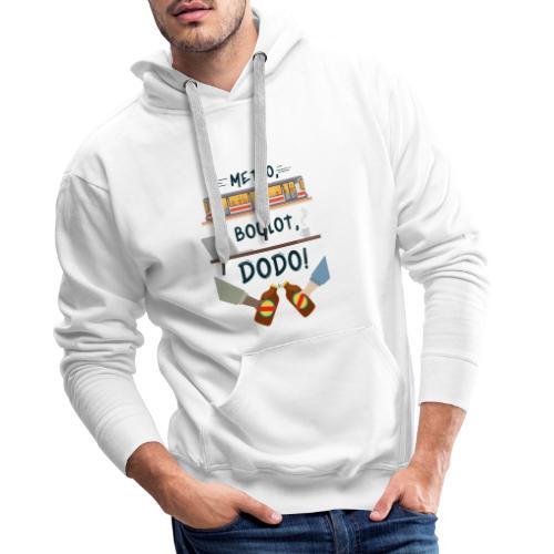 metro boulot dodo 974 - Sweat-shirt à capuche Premium pour hommes