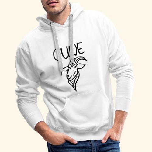 Ouwe bok zwart - Mannen Premium hoodie