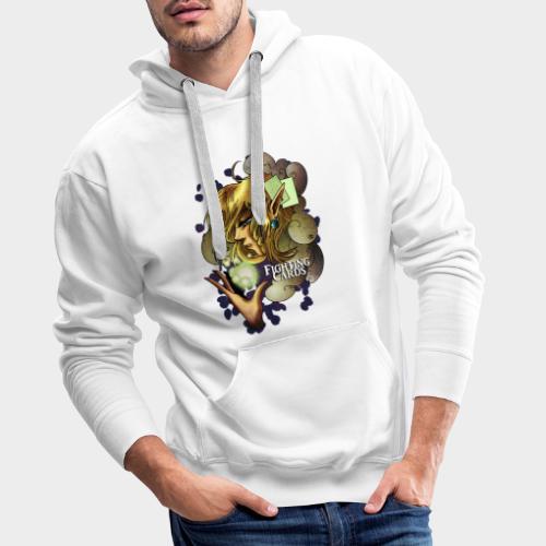 Fighting cards - Soigneuse - Sweat-shirt à capuche Premium pour hommes