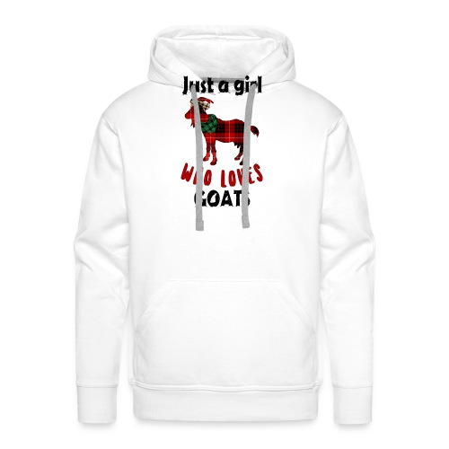Just A Girl Who Loves Goats - Men's Premium Hoodie