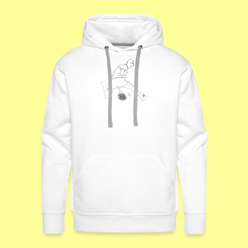 HOTDOG - Bluza męska Premium z kapturem