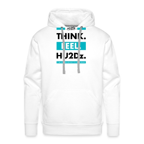 THINK FEEL HU2Dz Black White Shirt - Mannen Premium hoodie
