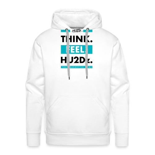 THINK FEEL HU2Dz Black White Shirt - Men's Premium Hoodie