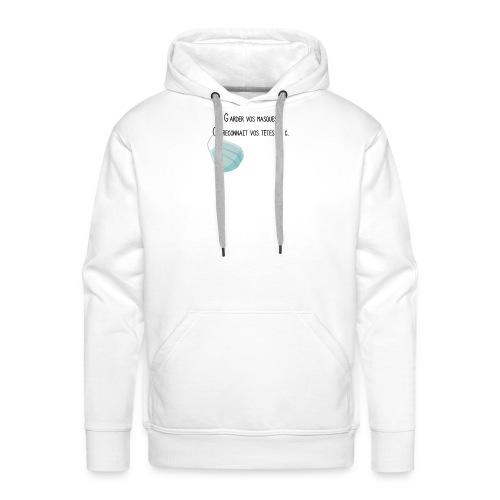 covid - Sweat-shirt à capuche Premium pour hommes