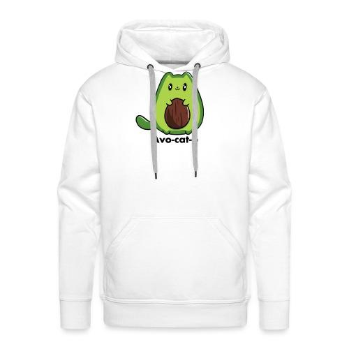 Gatto avocado - Avo - cat - o tutti i motivi - Felpa con cappuccio premium da uomo