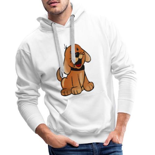 cartoon dog - Felpa con cappuccio premium da uomo