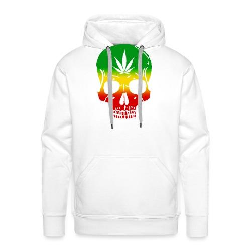 Cráneo Cannabis - Sudadera con capucha premium para hombre