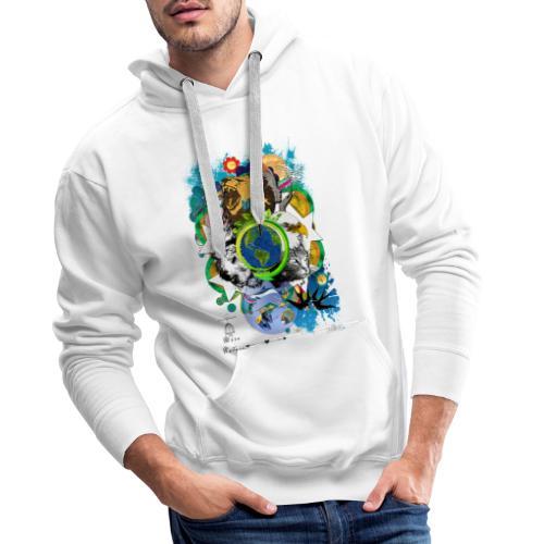 Terre Mère Nature (Fr) -by- T-shirt chic et choc - Sweat-shirt à capuche Premium pour hommes