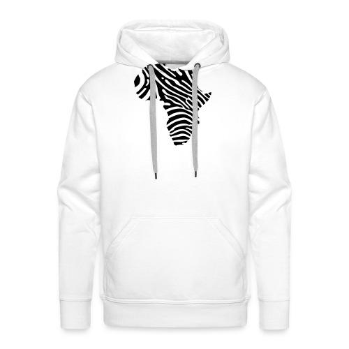 Afryka zebra - Men's Premium Hoodie