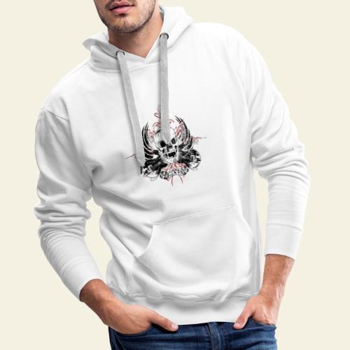 Grunge Rock N' Roll Skull - Herre Premium hættetrøje