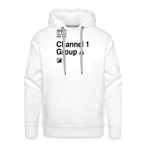 Channel 1 Group A - Strobist - Männer Premium Hoodie