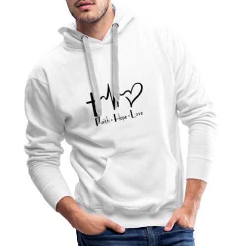 faith hope love - Sweat-shirt à capuche Premium pour hommes