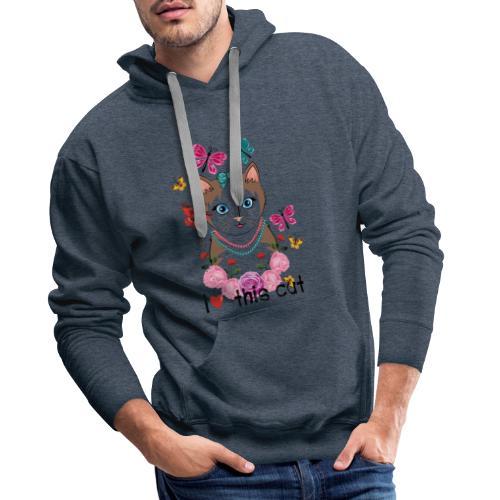 i love this cat - Mannen Premium hoodie