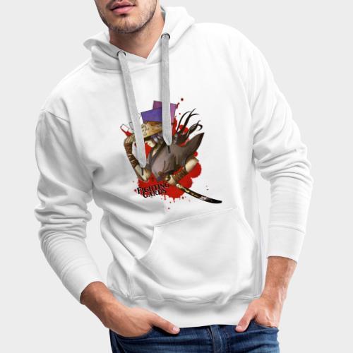 Fighting cards - Guerrier - Sweat-shirt à capuche Premium pour hommes
