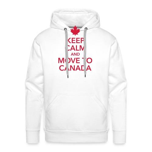 keep calm and move to Canada Maple Leaf Kanada - Men's Premium Hoodie