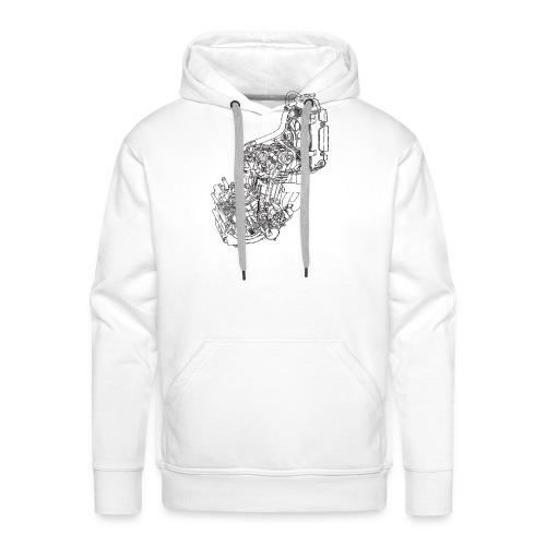 nx250 motorblok transparant - Mannen Premium hoodie
