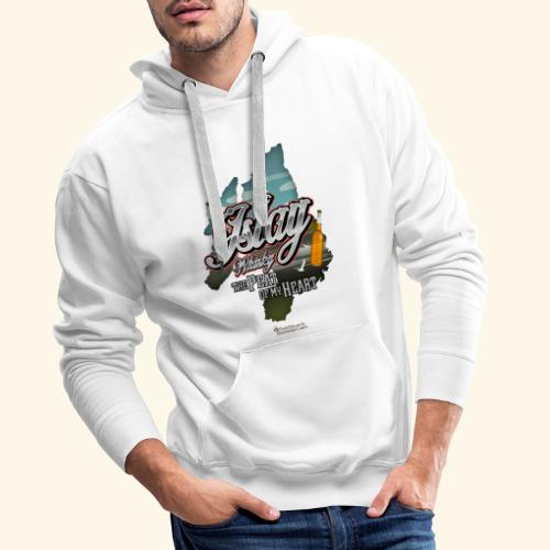 Whisky from Islay Peat of my Heart Tattoo Style - Männer Premium Hoodie