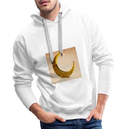 mezza luna - Felpa con cappuccio premium da uomo