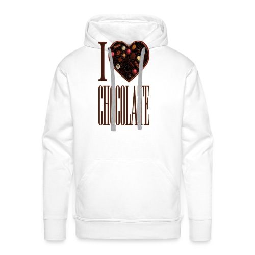 I Love Chocolate - Men's Premium Hoodie
