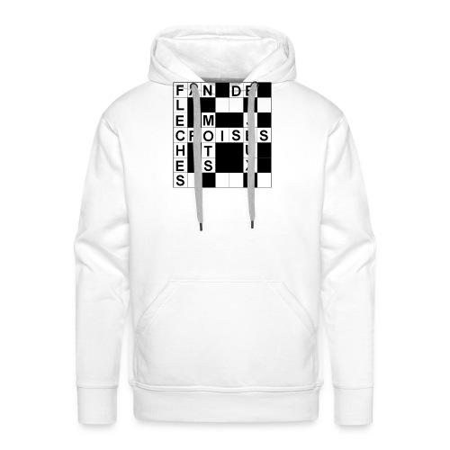 Fan de mots croisés - Sweat-shirt à capuche Premium pour hommes
