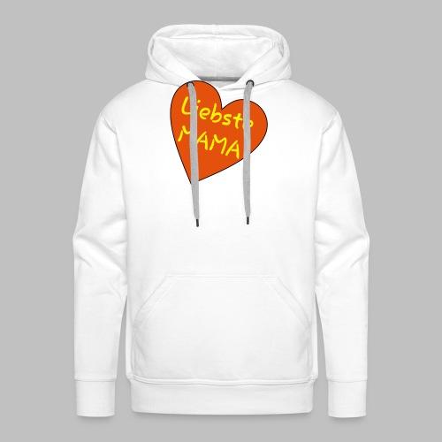 Liebste Mama - Auf Herz ♥ - Männer Premium Hoodie