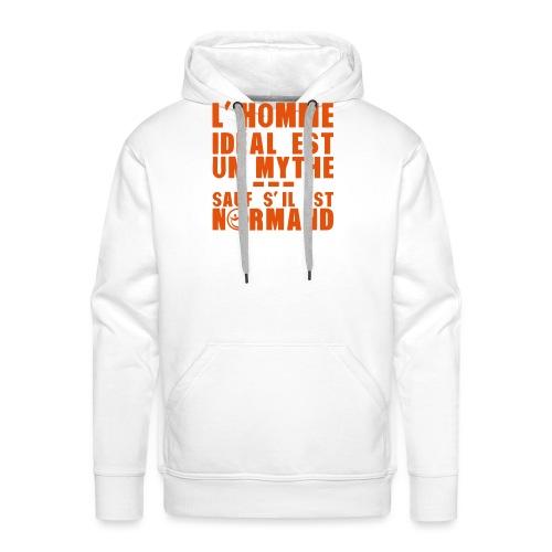 normand homme ideal mythe humour citatio - Sweat-shirt à capuche Premium pour hommes