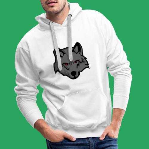 wolf logo - Felpa con cappuccio premium da uomo