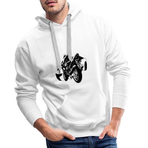 moto con carro - Sudadera con capucha premium para hombre