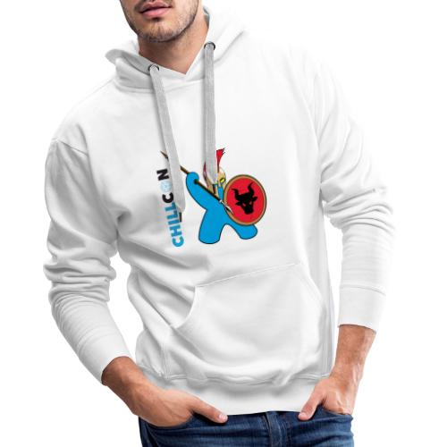 Greek Mascot - Colour - Men's Premium Hoodie