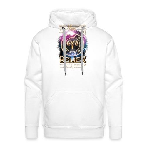 BELIER - Sweat-shirt à capuche Premium pour hommes