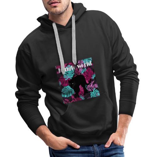 Jungle world panthere c - Sweat-shirt à capuche Premium pour hommes