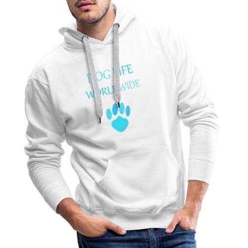 Blue Paw Print - Men's Premium Hoodie