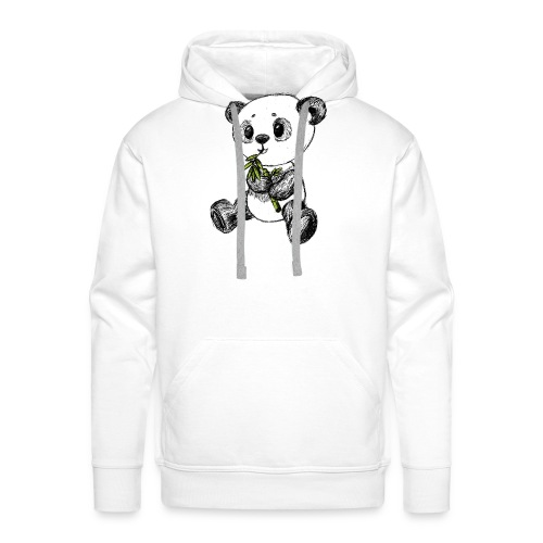 Panda bjørn farvet scribblesirii - Herre Premium hættetrøje