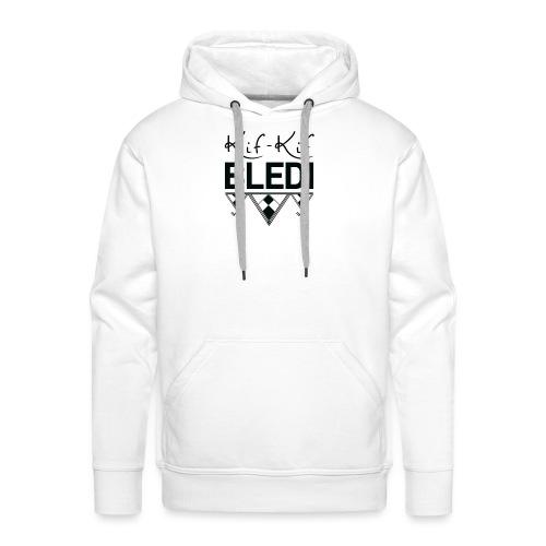 logo kifkifbledi - Sweat-shirt à capuche Premium pour hommes