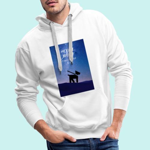 TAKE ME FOR WALK - Bluza męska Premium z kapturem
