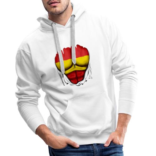 España Flag Ripped Muscles six pack chest t-shirt - Men's Premium Hoodie