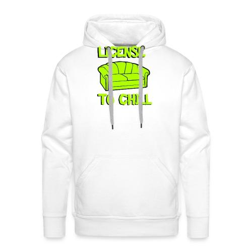 License to chill - Mannen Premium hoodie