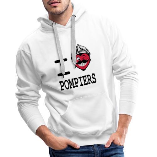 i_love_pompier_4 - Sweat-shirt à capuche Premium pour hommes