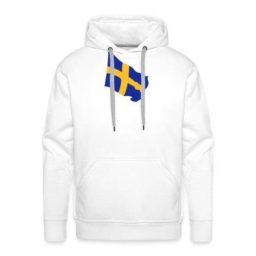 Flagge Schwedenflagge flatternd, Sweden Sverige - Männer Premium Hoodie