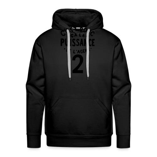 La puissance de l'agent 2 - Sweat-shirt à capuche Premium pour hommes