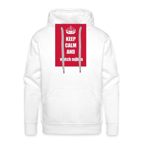 Keep calm watch mjb m - Men's Premium Hoodie