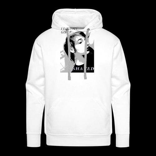 i like my girls shaved - Männer Premium Hoodie