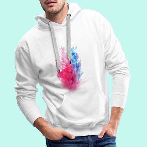 Pink & Blau - Männer Premium Hoodie